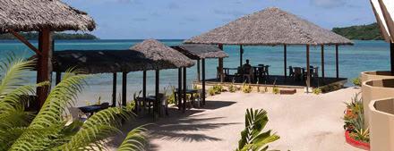 A resort on the beach