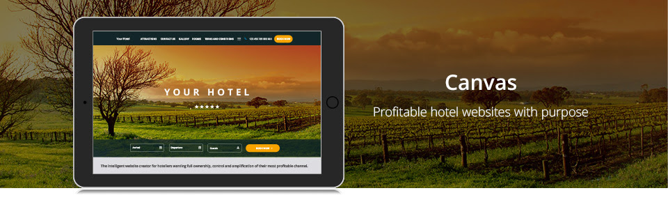 independent hotels websites by canvas