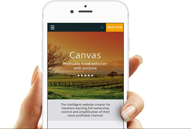 Mobile website builder by Canvas