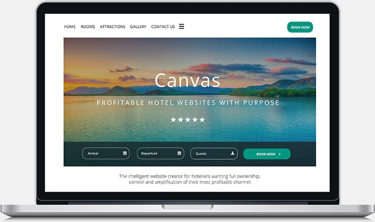 Resort website built by Canvas on Mac