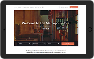 Hotel website template  - The Metropolis Hotel