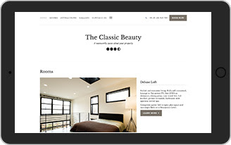 Hotel website template  - The Classic Beauty