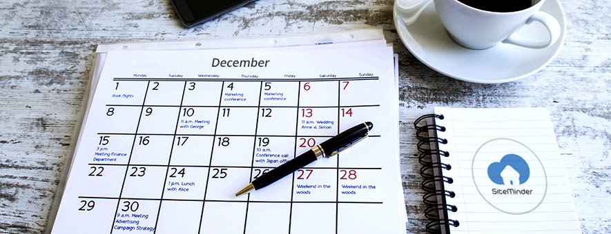 December guide to what's on with SiteMinder