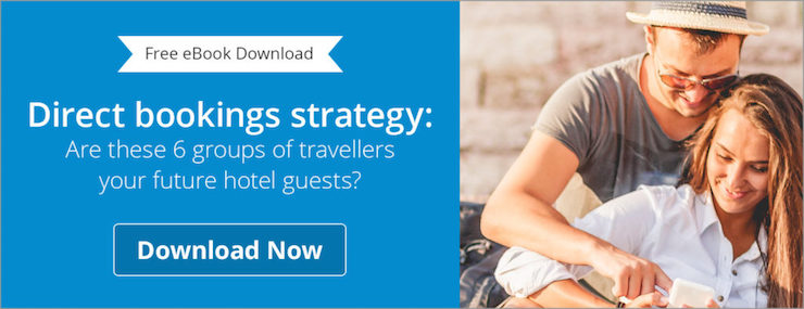 Guests booking direct on a hotel website