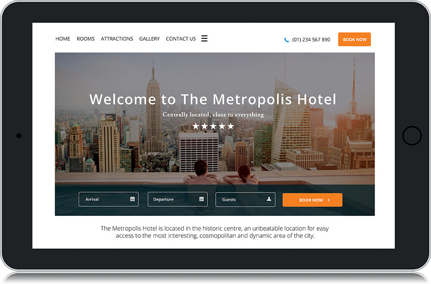 Canvas Metropolis Hotel Website Template