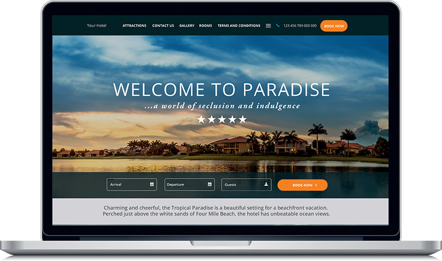 Canvas Tropical Paradise Website Template