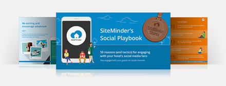 The cover of SiteMinder's social media playbook