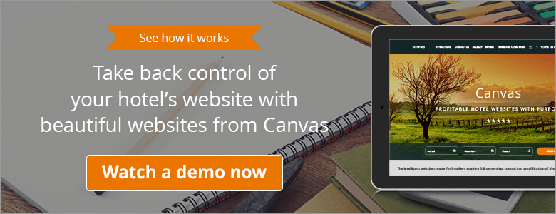 Improve your hotel website design with Canvas