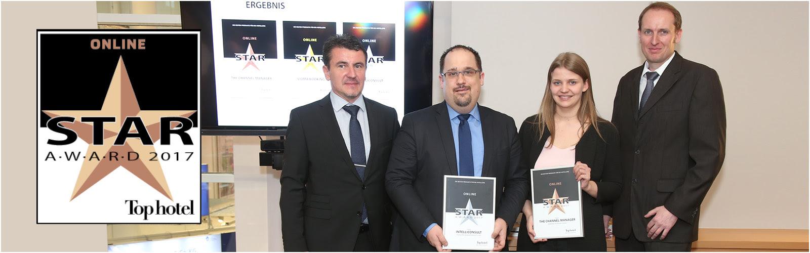 SiteMinder receives a Top hotel Star Award