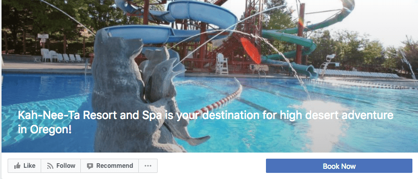 Hotel gets more direct bookings from their Facebook page with a booking button