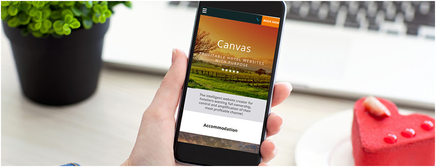 Hotel uses mobile-friendly website, Canvas
