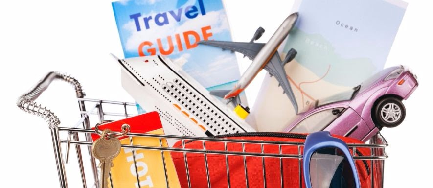 Shopping cart of hotel and travel good