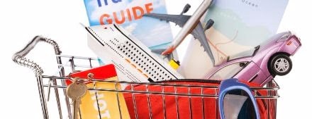 Shopping cart of hotel and travel goods