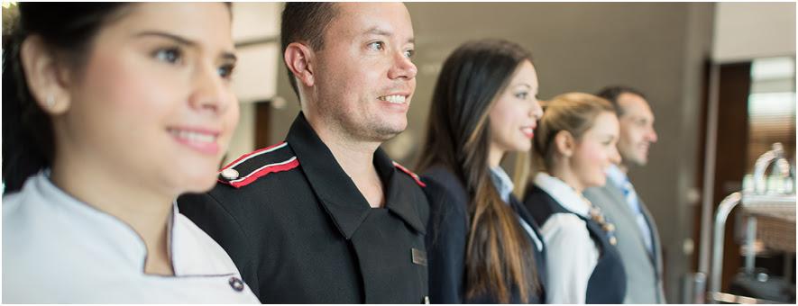 team of hotel staff