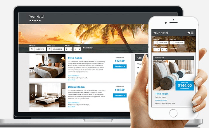 SiteMinders, Canvas is the website builder and designer for hotels