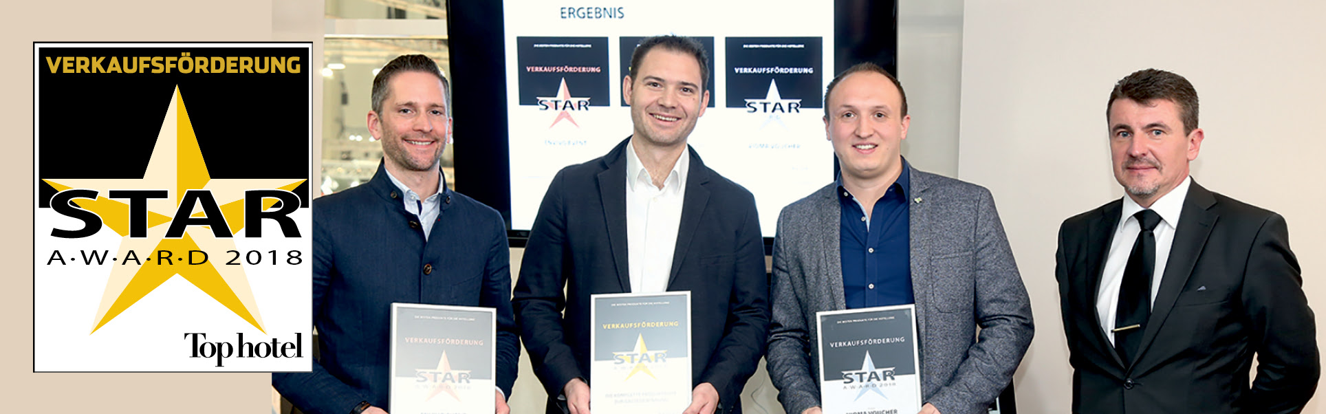 SiteMinder wins a gold Top hotel Star Award