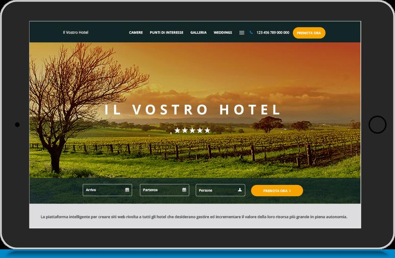 L'hotel usa il costruttore di siti web Canvas per creare il suo sito