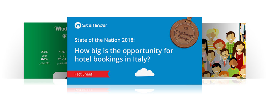 How big is the opportunity for hotel bookings in Italy?